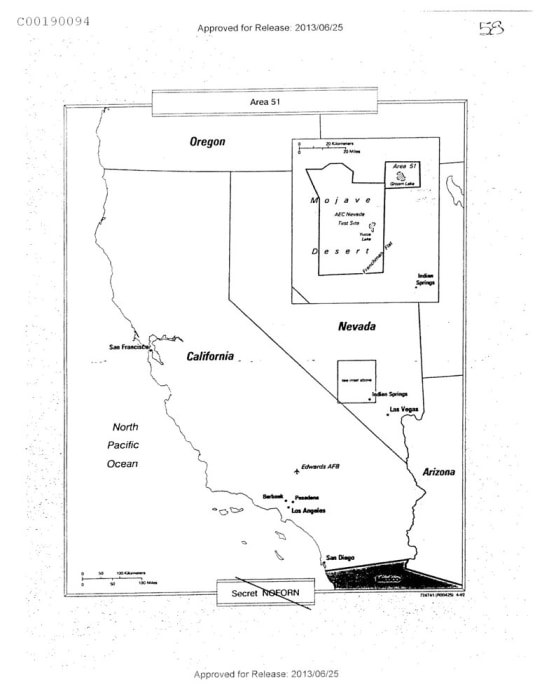 The CIA's declassified map of Groom Lake/Area 51