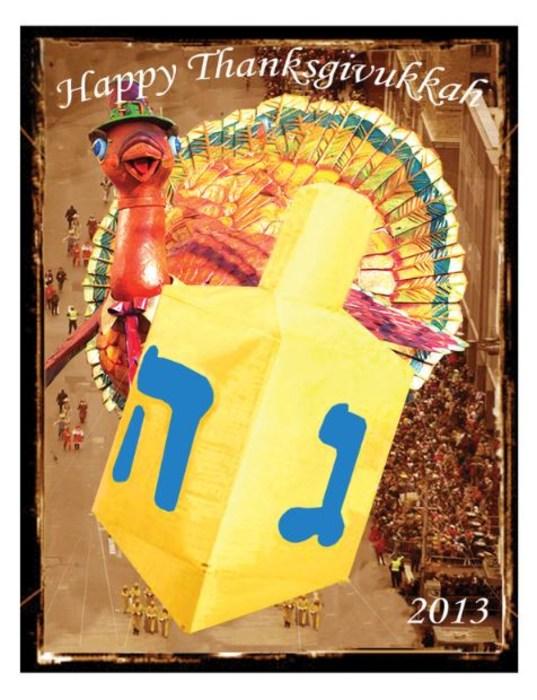 Thanksgiving Hanukkah card