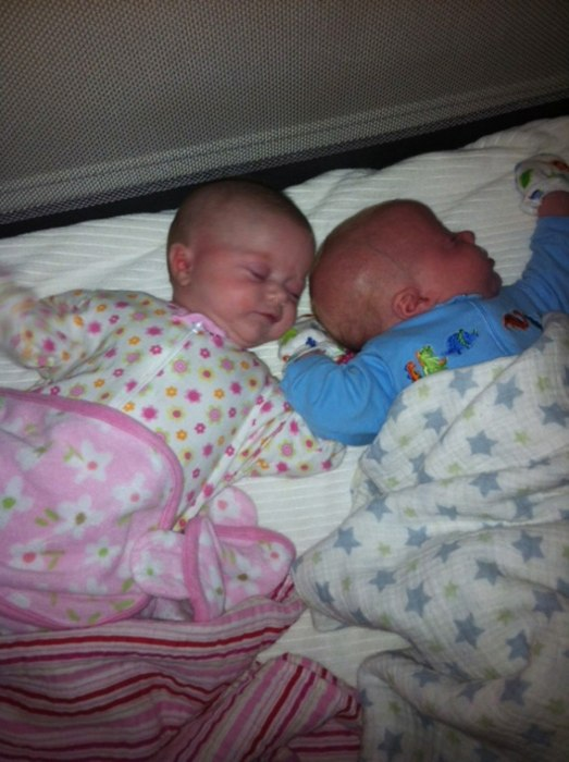 Tamzin and Brody McGill, 2 1/2 months old, were conceived via IVF. Their mother, Lisa McGill of Carmel, Calif., endured six failed IVF cycles before t...