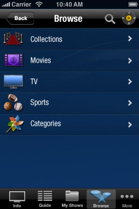 TiVo's iPad app