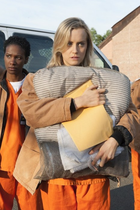 "Taylor Schilling is the star of ""Orange is the new Black."""