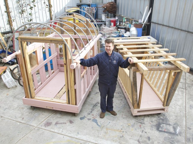 California artist Gregory Kloen, who builds small portable homes using salvaged materials, says an inexpensive structure is a way to keep someone safe and out of jail.