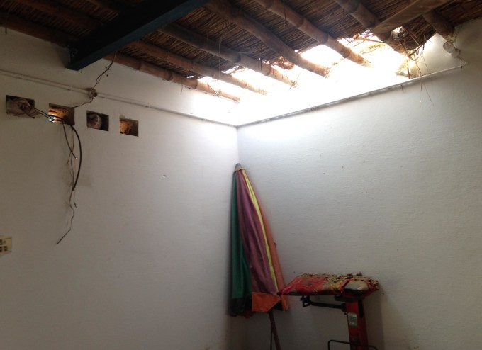 The roof of the room where Sajjad and Shama were locked in was ripped apart as the attacking mob came from all sides, including the ceiling