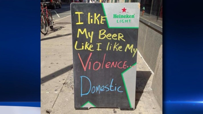 Image: Sign posted outside Bar-Ly in Philadelphia's Chinatown