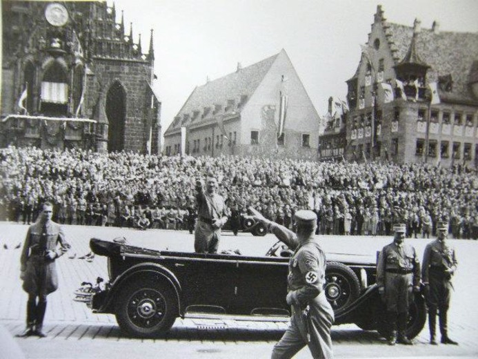 Image: Adolf Hitler in Nuremberg, Germany, in 1934