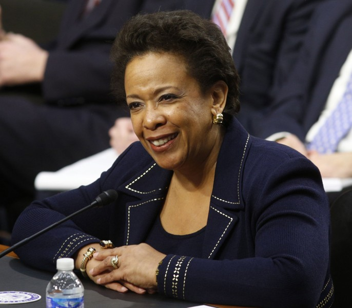 Image: Loretta Lynch testifies on Capitol Hill in Washington