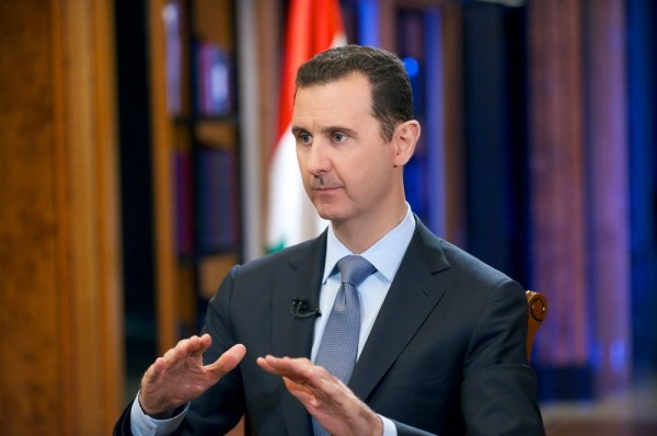 Syrian President Bashar Assad during an interview