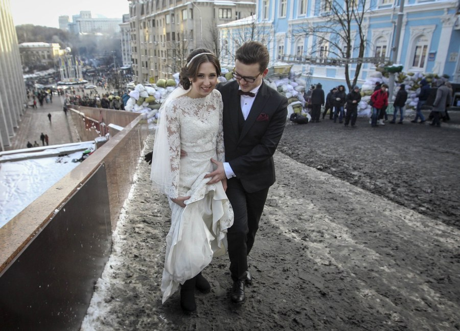 Four weddings and a revolution: Love on the barricades in Ukraine