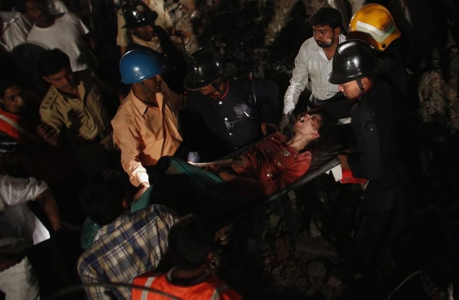 Dozens killed after building collapses near Mumbai