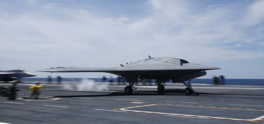Navy launches drone from aircraft carrier for first time