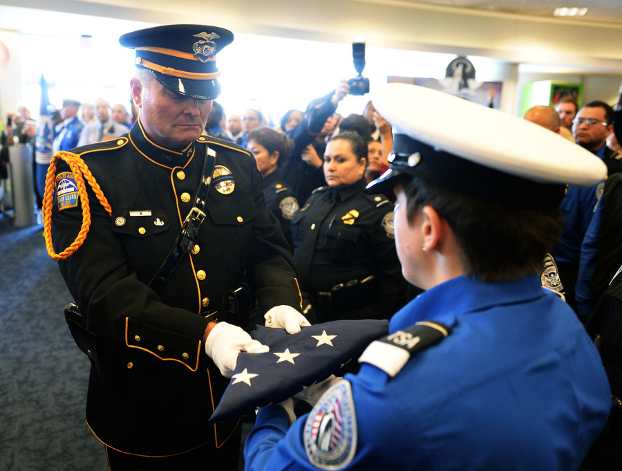 TSA officers pay tribute to fallen comrade at LAX