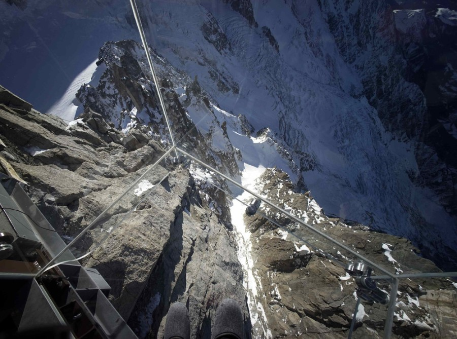 Step into the void for a vertigo-inducing view of the French Alps