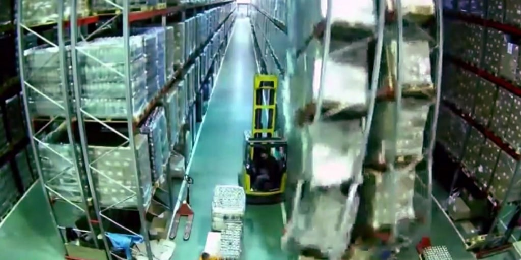 Forklift Accident Creates Warehouse Disaster In Viral Video