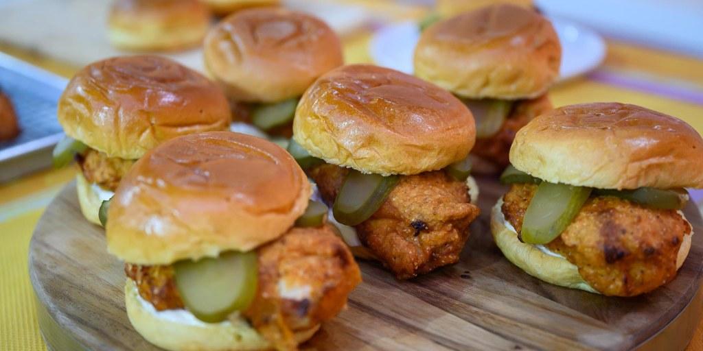 Make JJ Johnson's crispy fried chicken sandwich