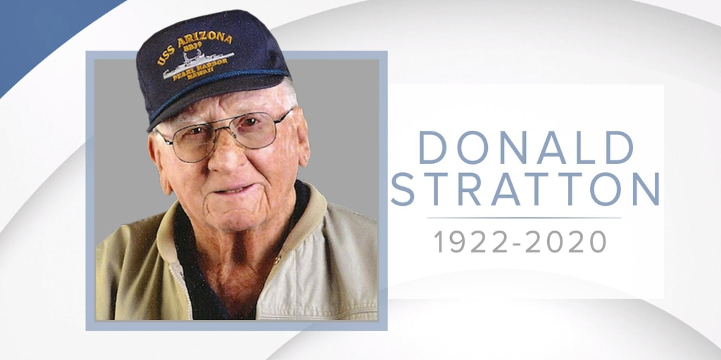 Donald Stratton, who survived attack on USS Arizona at Pearl Harbor, dies at 97