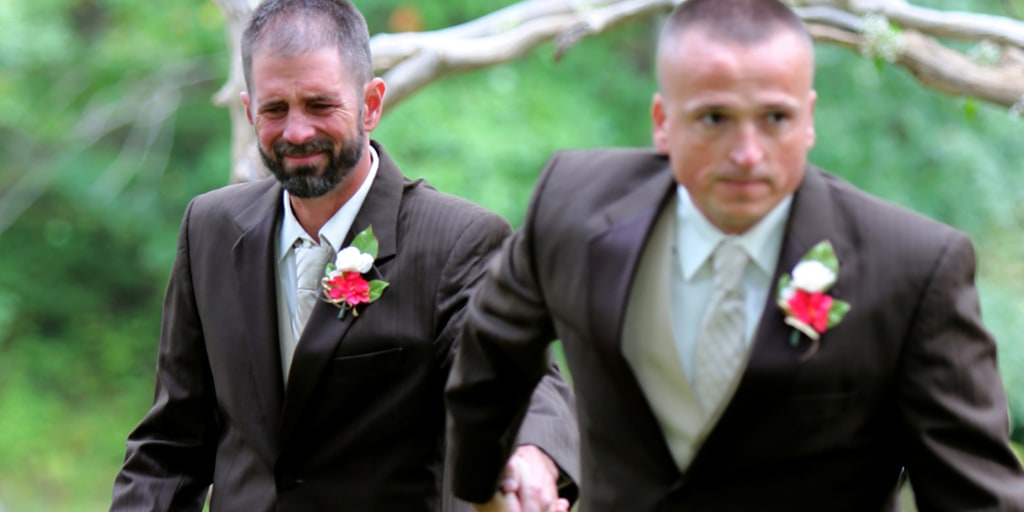 Dad Surprises Stepdad At Daughter S Wedding With Both