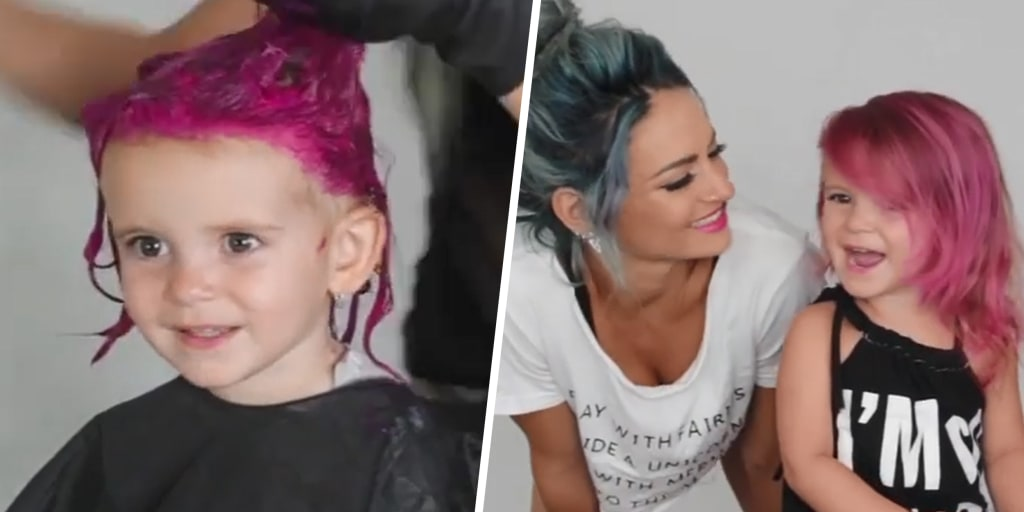 Is it safe for kids to dye their hair with wild colors?