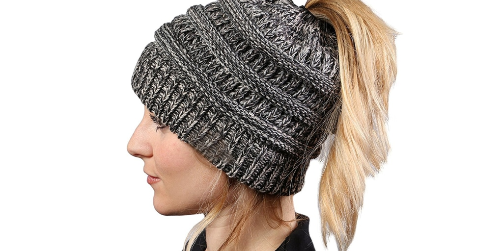 e091fe640b2ae This winter hat was made to fit ponytails