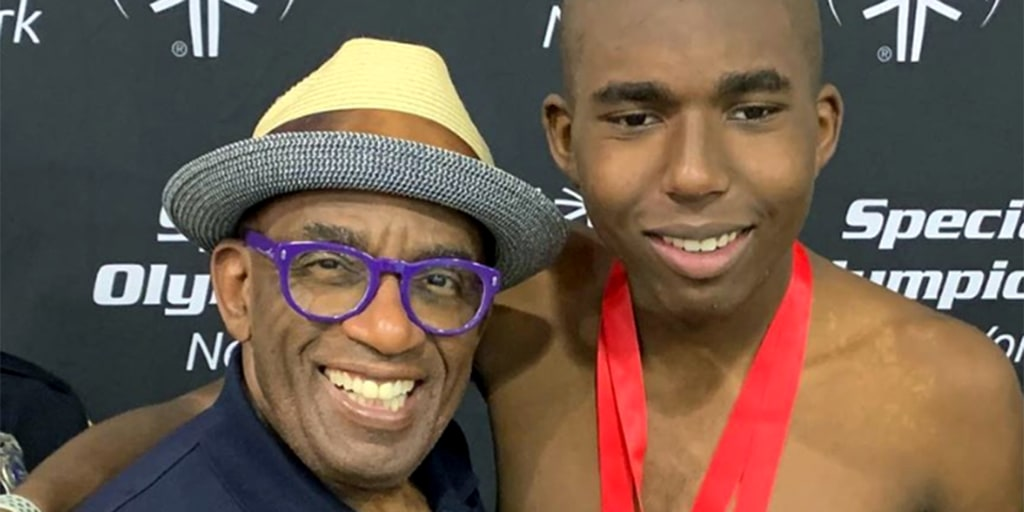 Proud dad Al Roker raves about his son's Special Olympics swim meet wins
