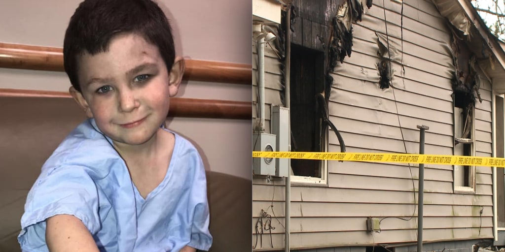 5-year-old saves his family from house fire, helps sister escape through window