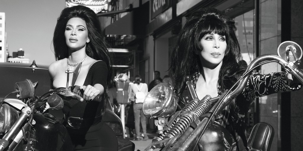 Cher, Kim Kardashian West and Naomi Campbell team up for '60s-inspired photo shoot