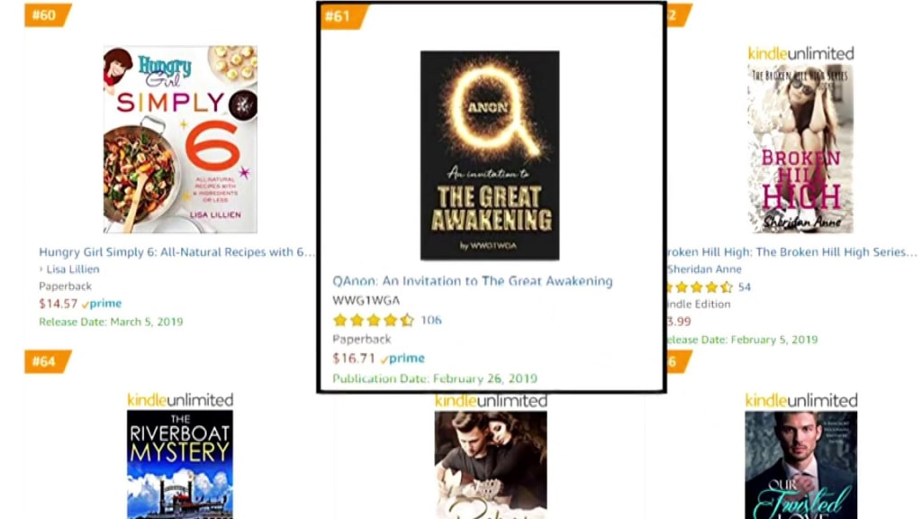 Why is a 'Qanon' conspiracy theory book in Amazon's top books list?
