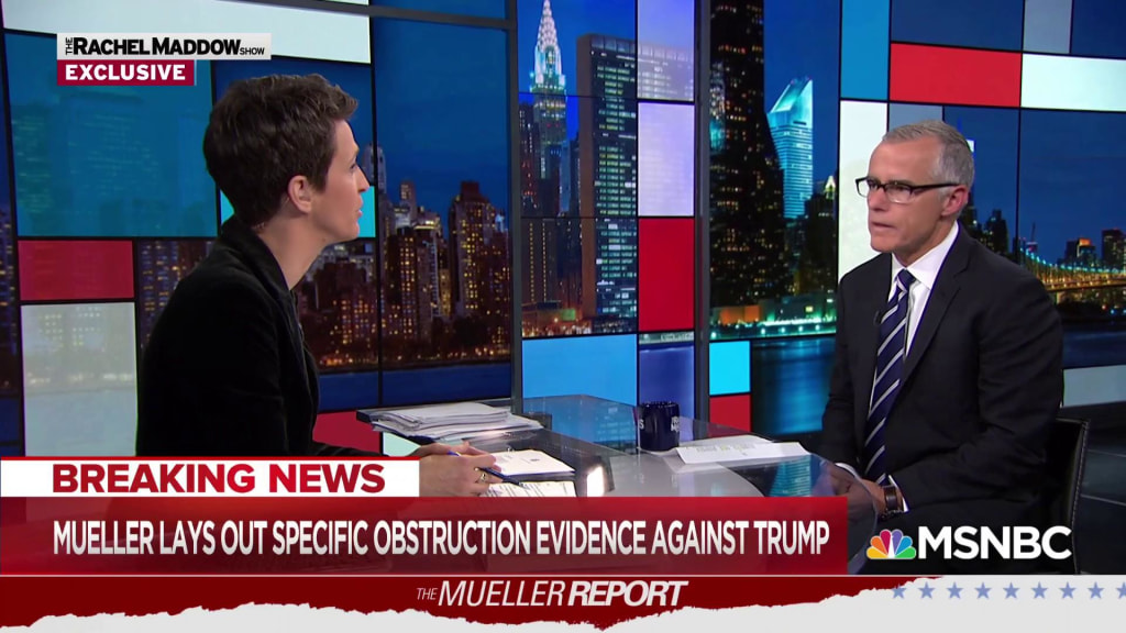 McCabe: Mueller reports 'avalanche of facts' on Trump obstruction