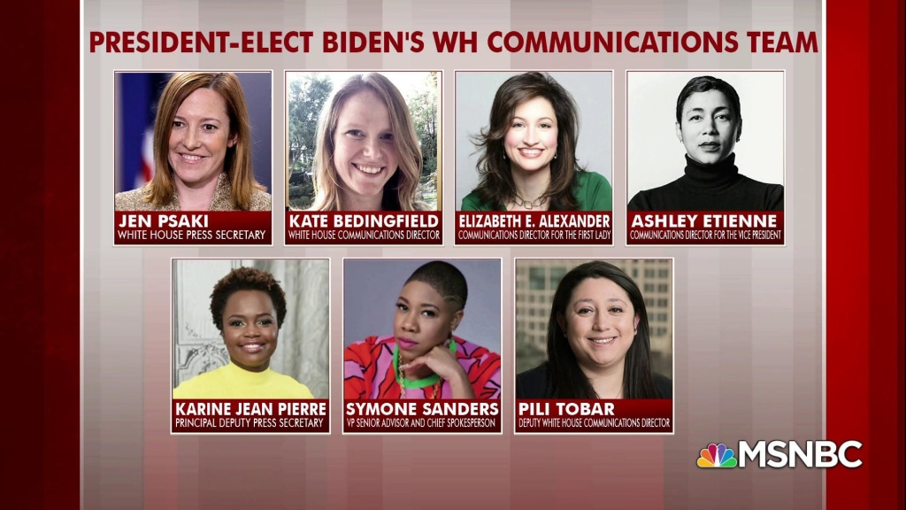 Biden hires all-female WH communications team