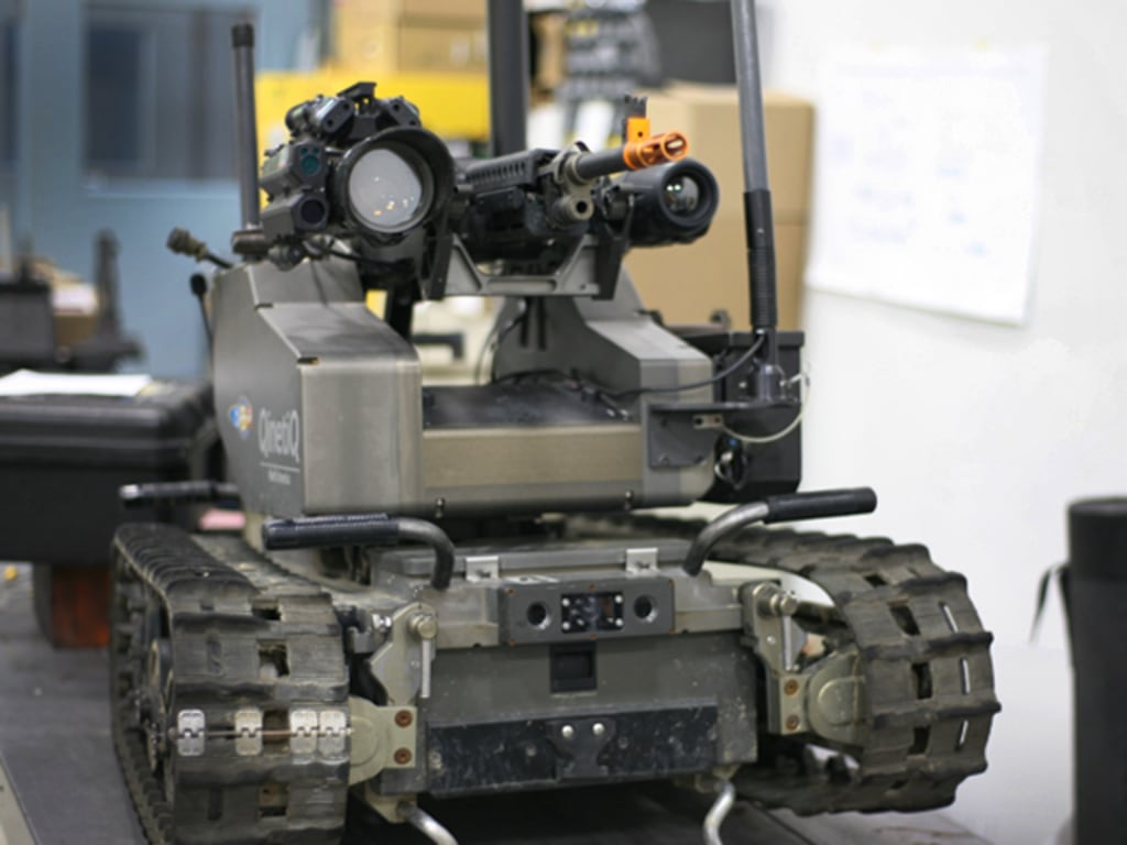 Robots march home from war