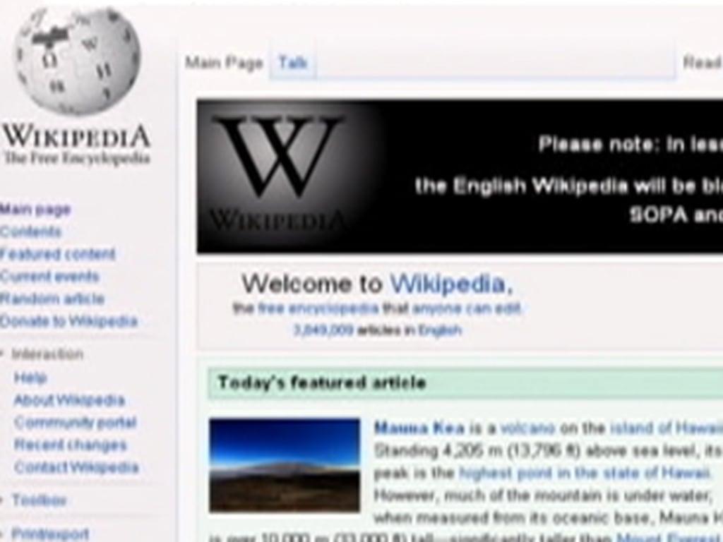 Wikipedia to go dark Wednesday