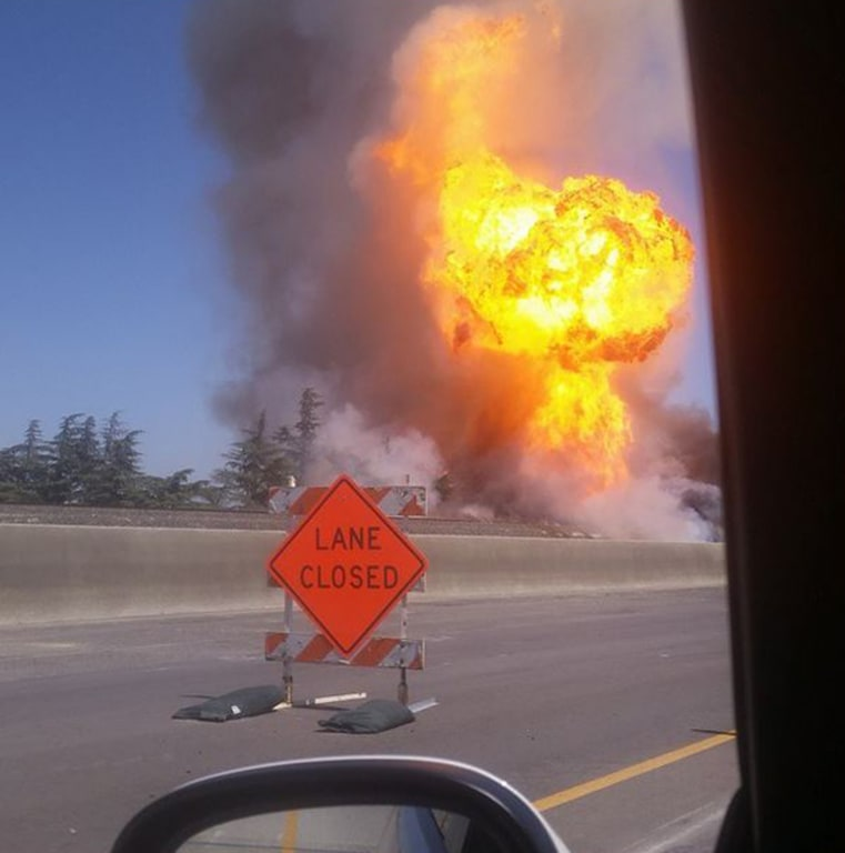 Gas Line Explosion Injures 11 in Fresno, California