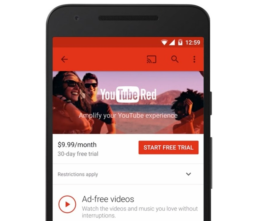 Ad-Free 'YouTube Red' Launches Next Week For $10 a Month