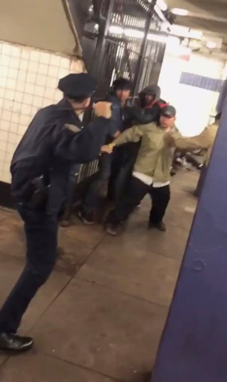 NYPD officer praised for using nonlethal force to fend off 5