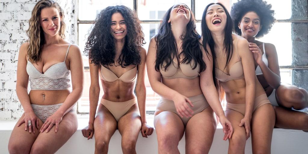 Live Woman Modeling Panties Pic