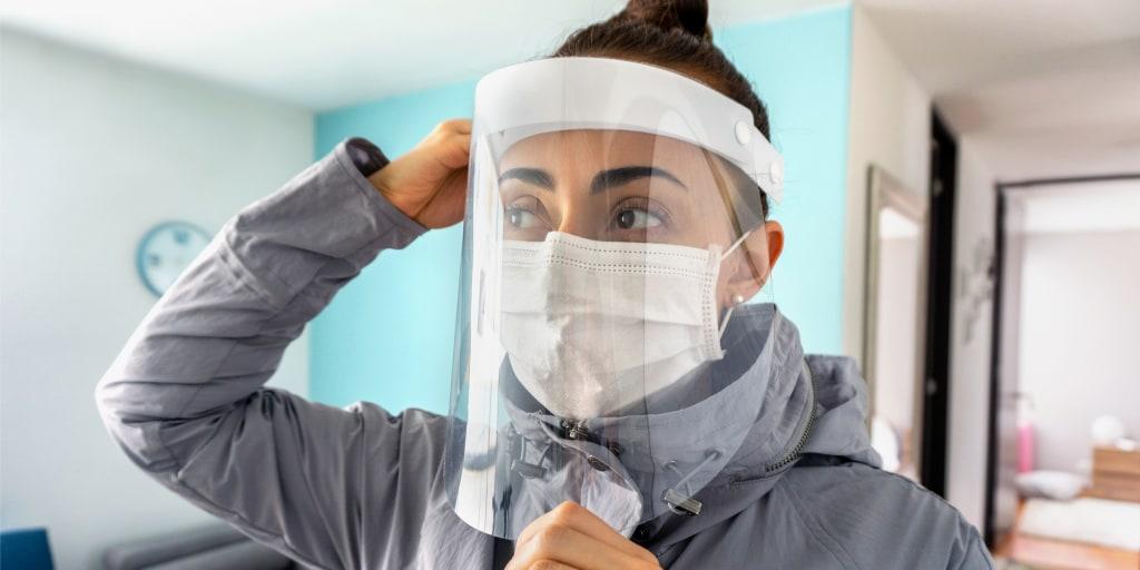 Safety Full REUSABLE Face Shield Guard mask Head Band Elastic USA Seller