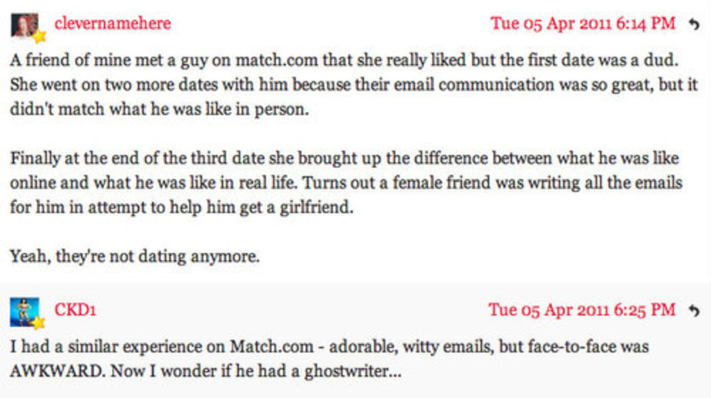 how to end a online dating email