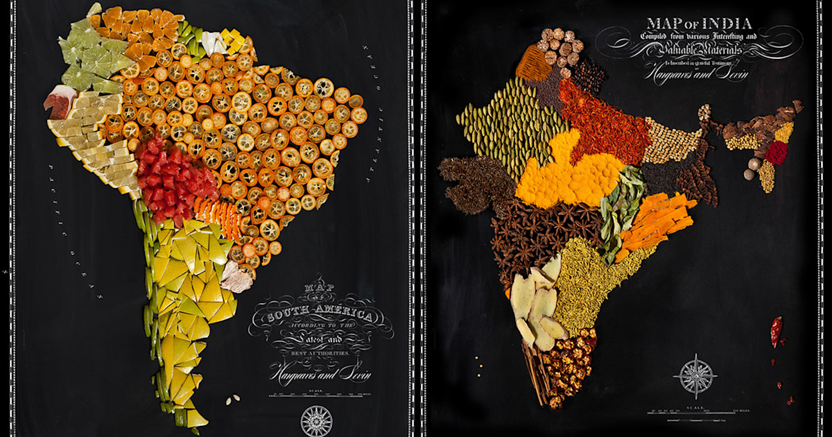 The United Nations Of Food These Maps Are Delicious Enough To Eat
