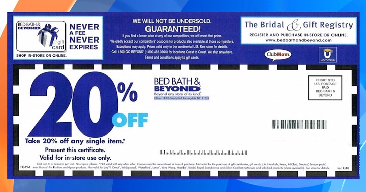 how to use bed bath and beyond 20 coupon online
