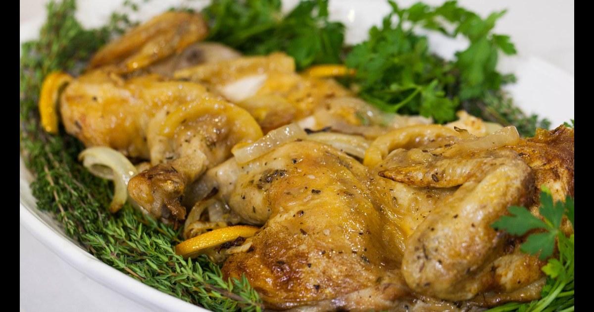Barefoot Contessa Ina Gartens Skillet Roasted Lemon Chicken Is A