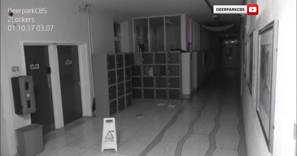 School security camera captures ghostly footage