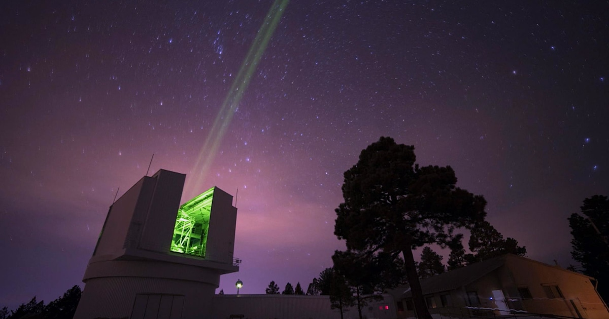 This powerful laser beam is helping track the moon