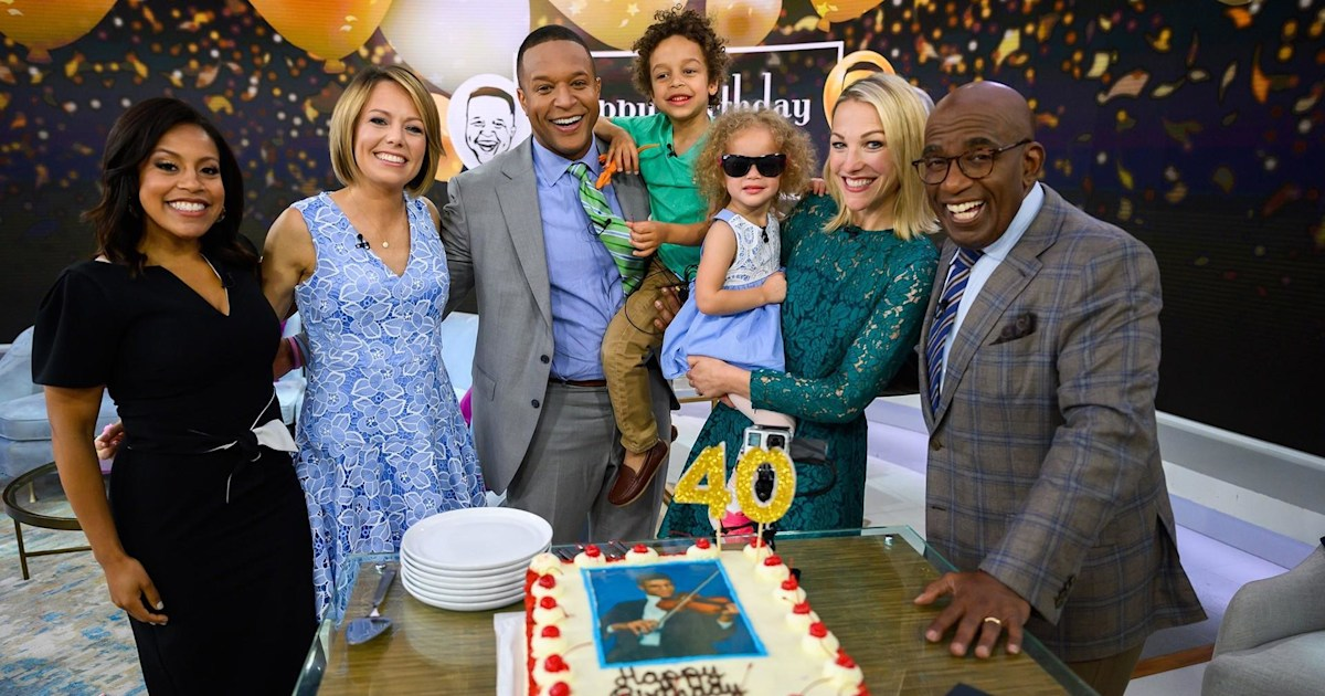 Craig Melvin S Family Stops By To Celebrate His 40th Birthday