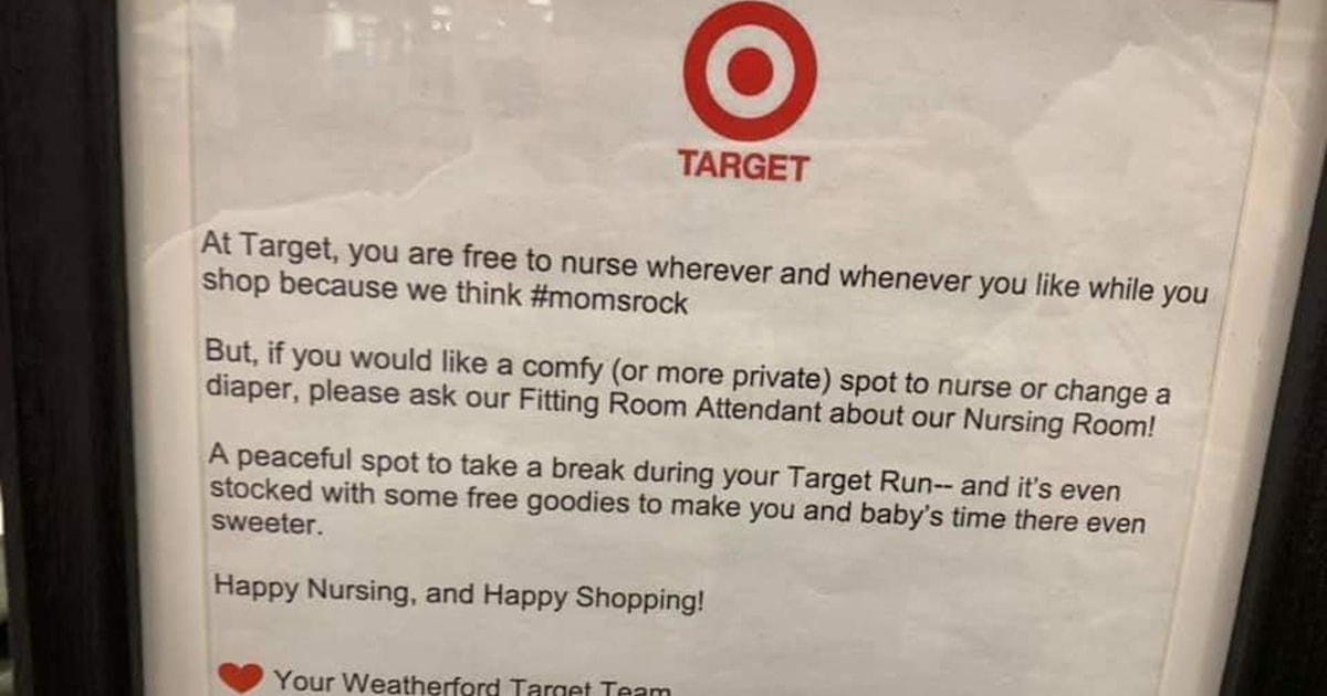 Target's inclusive public breastfeeding policy makes moms happy