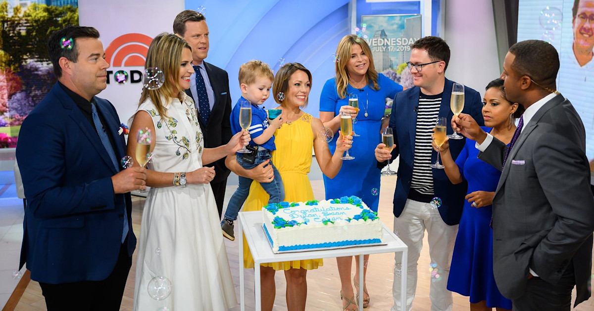 Friends of TODAY host Dylan Dreyer react to her baby announcement