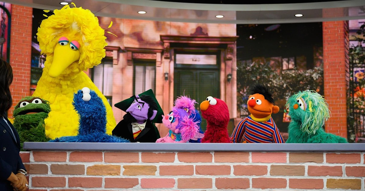 Big Bird Elmo And Today Celebrate 50 Years Of Sesame Street