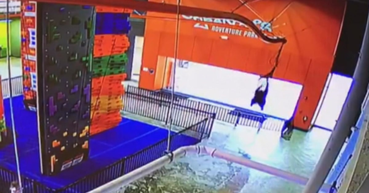 10-year-old boy injured in scary zip line fall caught on surveillance tape