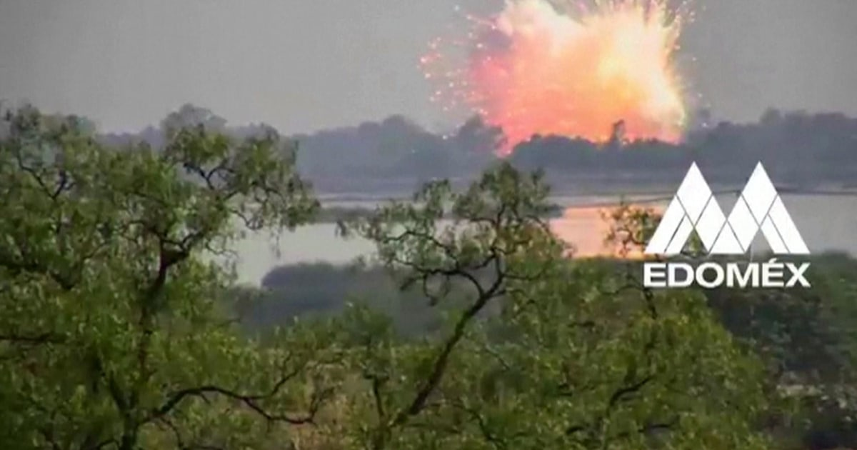 Tödliche explosion im Pyrotechnik-Lager auf video gefangen