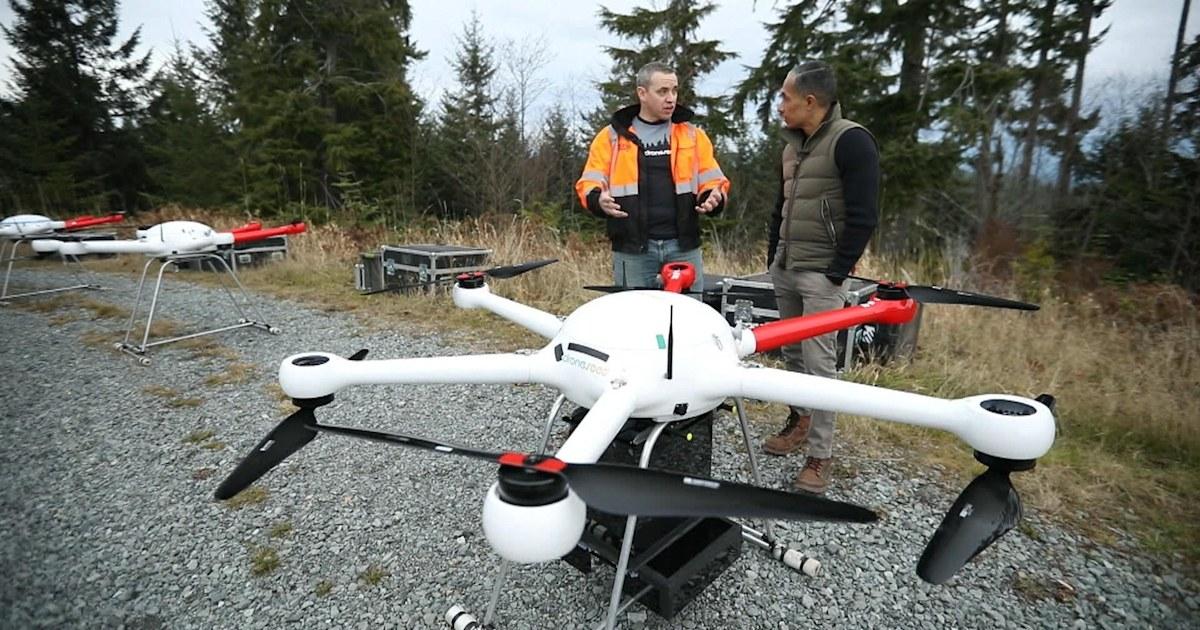 Τα μη επανδρωμένα αεροσκάφη είναι βοηθώντας την ανασύσταση περιοχές που έχουν καταστραφεί από πυρκαγιές