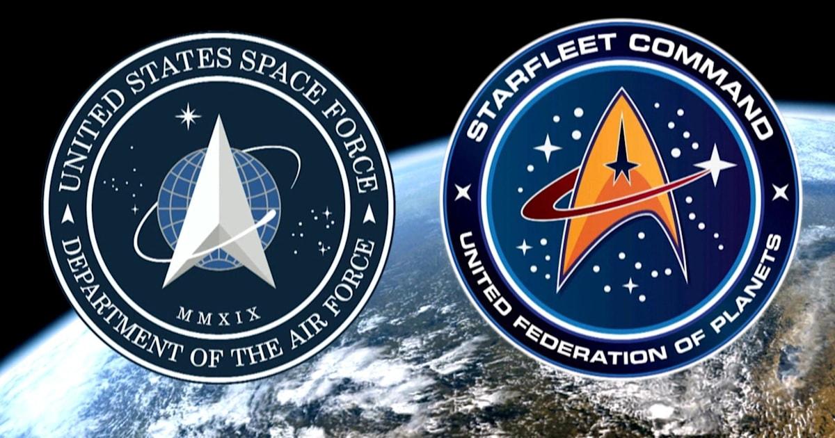 ΜΑΣ Διαστημική Δύναμη λογότυπο αποκάλυψε και κάποιοι βλέπουν ομοιότητες με το Σταρ Τρεκ