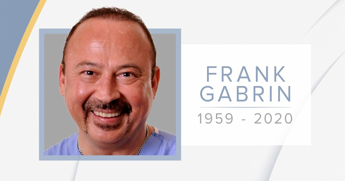 ER physician Dr. Frank Gabrin dies at 60 after showing symptoms of coronavirus